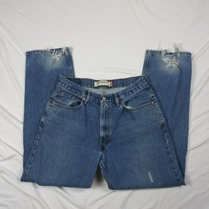 Levi's Mens Size 33x32 550 Relaxed distressed Worn